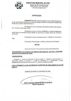 Notificação a partir do Decreto 55.128.2020