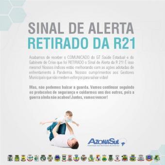 SINAL DE ALERTA RETIRADA DA R21