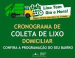 NOVO CRONOGRAMA DA COLETA DE LIXO DOMÉSTICO